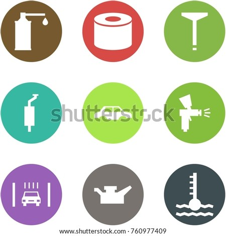 Origami Corner Style Icon Set Oil Stock Vector Royalty Free