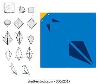 origami crate with instructions