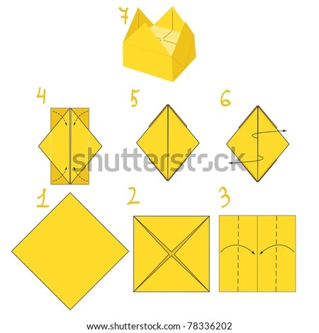 Origami Crown Stock Vector Royalty Free 78336202 Shutterstock