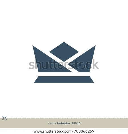 Origami Crown Logo Template Stock Vector Royalty Free 703866259