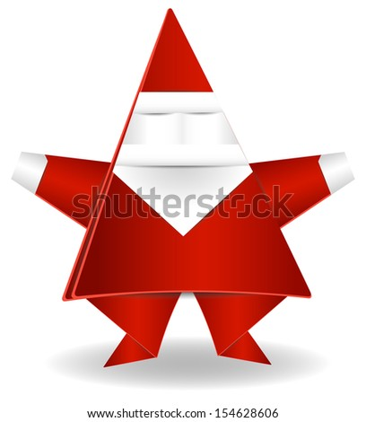 Origami Decoration Paper Santa Claus Stock Vector Royalty Free