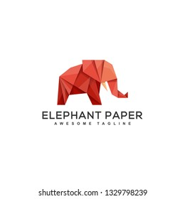 Origami Elephant Design Concept illustration vector template. Suitable for Creative Industry, Multimedia, entertainment, Educations, Shop, and any related business