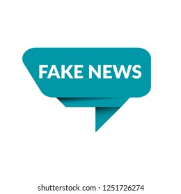 origami fake news sign,label.origami fake news speech bubble.origami fake news tag sign,banner