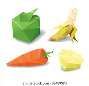 origami fruits set