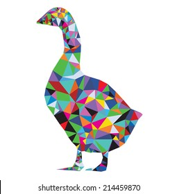 Origami goose abstract