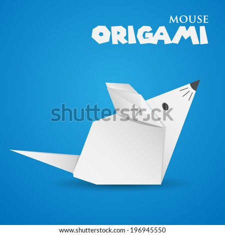 Origami Mouse Stock Vector Royalty Free 196945550 Shutterstock