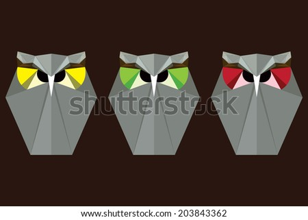 Origami Owls Stock Vector Royalty Free 203843362 Shutterstock
