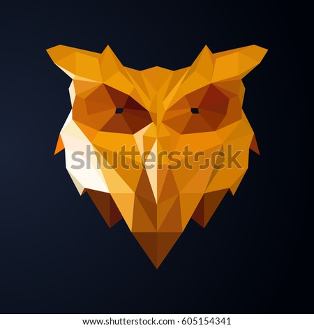 Origami Owls Paper Animal Abstract Illustration Stock Vector