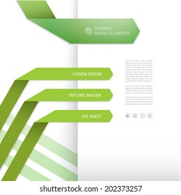 origami page layout template for infographics or minimal web site design