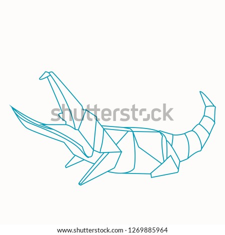 Surprising Origami Paper Craft Crocodile Easy Making Stock Vector Royalty Free Wiring Digital Resources Timewpwclawcorpcom
