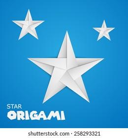 origami paper star