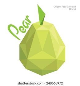 origami pear