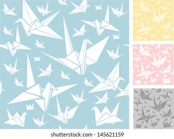 Origami seamless pattern