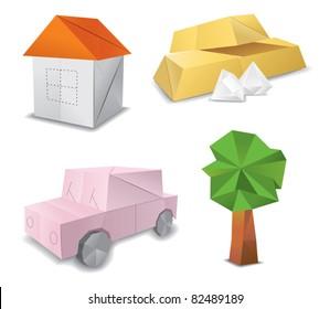 origami set symbol