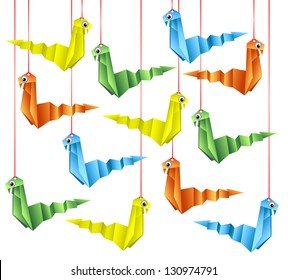 origami snakes