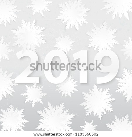 Origami Snowflakes 2019 New Year Winter Stock Vector Royalty Free