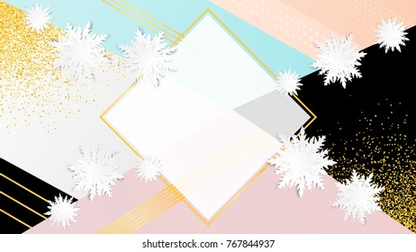 Royalty Free Stock Illustration Of Origami Snowflakes Merry