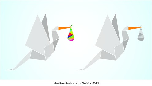 Stork Origami Images, Stock Photos & Vectors Shutterstock