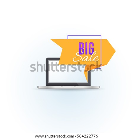 origami style big sale popup banner stock vector royalty free