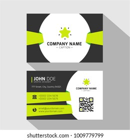 Origami Style Green Business Card