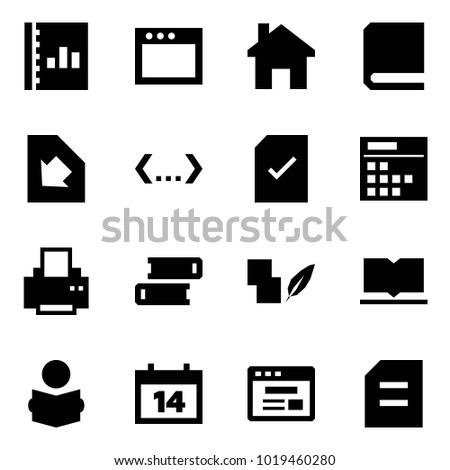 origami style icon set annual report stock vector royalty free