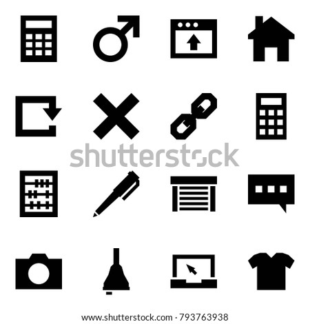 Origami Style Icon Set Calculator Vector Stock Vector