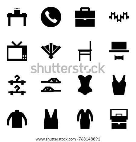 Origami Style Icon Set Dinner Table Stock Vector (Royalty Free