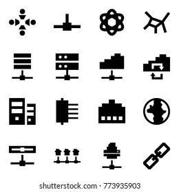 Origami style icon set - friendship vector, connect, network, server, cloud service, exchange, hub, connector, earth, disk, local, printer, link