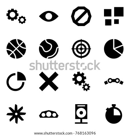 Origami Style Icon Set Gears Vector Stock Vector Royalty Free
