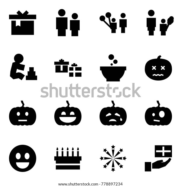 Origami Style Icon Set Gift Vector Stock Vector (Royalty
