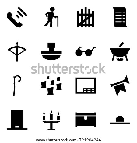fb526860 Origami style icon set - incoming call vector, grandfather, gate, history,  crossbow, paperweight, glasses, witch cauldron, crook, cemetery, drawing,  horn, ...