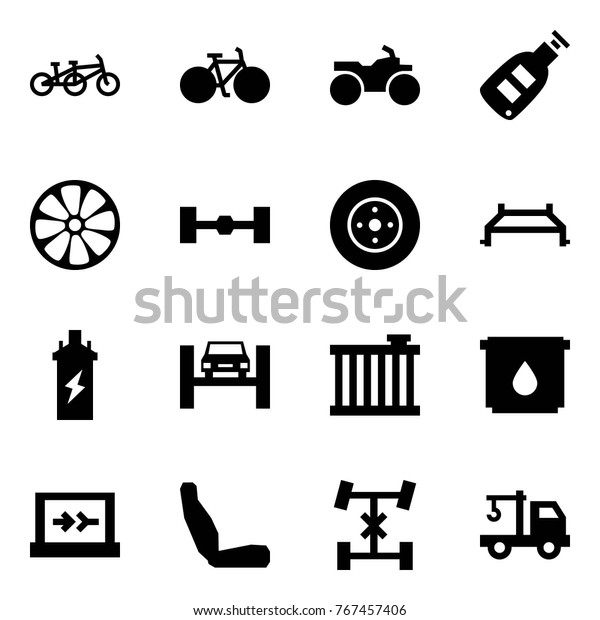 Origami Style Icon Set Tandem Vector Stock Vector (Royalty