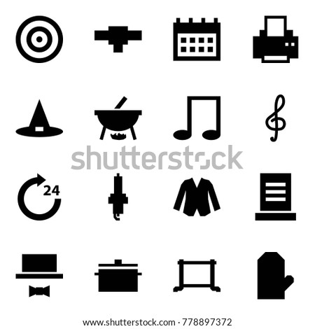 86f41aa5 Origami style icon set - target vector, connection, calendar, printer, witch  hat