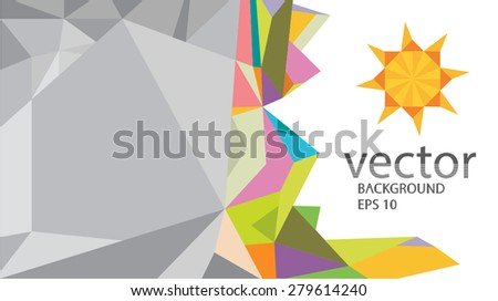 Origami Sun Paper Background Vector Stock Vector Royalty Free
