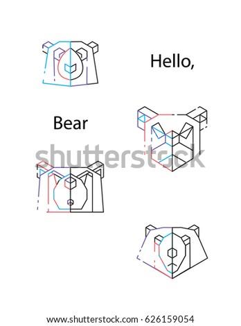 Peachy Origami Vector Bear Set Bear Triangle Heads Stock Vector Royalty Wiring 101 Olytiaxxcnl