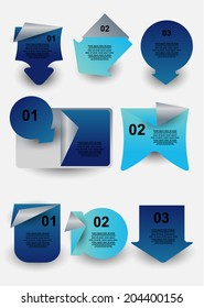origami web badges labels with number options