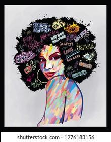 Abstract Black Woman Art