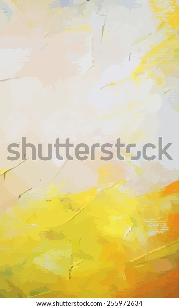 Original abstract hand draw oil painting composition. Vector illustration.