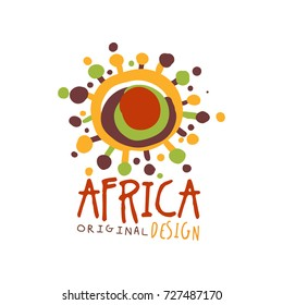 Original african abstract logo template