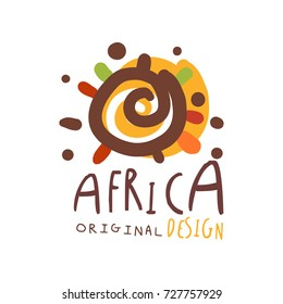 Original african logo design template