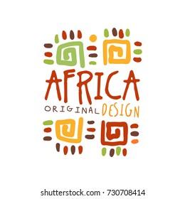 Original african tribal ornamental logo
