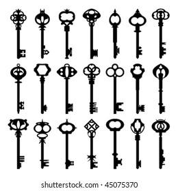 Original antique Keys collection.