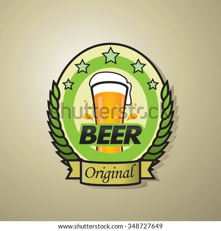 original beer bottle label template design stock vector royalty