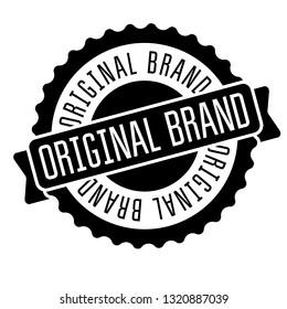 original brand stamp on white background. Sign, label, sticker.