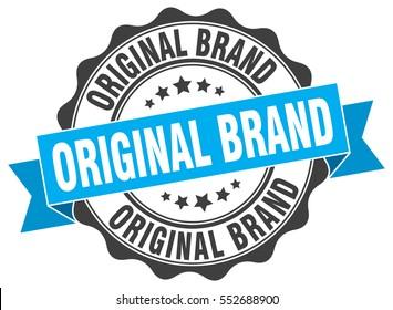 original brand. stamp. sticker. seal. round grunge vintage ribbon original brand sign