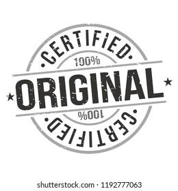 Original Certified Quality Original Stamp Design Vector Art Round Seal