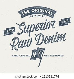 The Original Clothing Co. - Aged Tee Design For Printing
