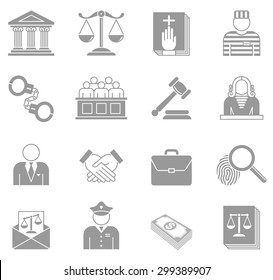 An original collection of Law and Enforcement Icons.