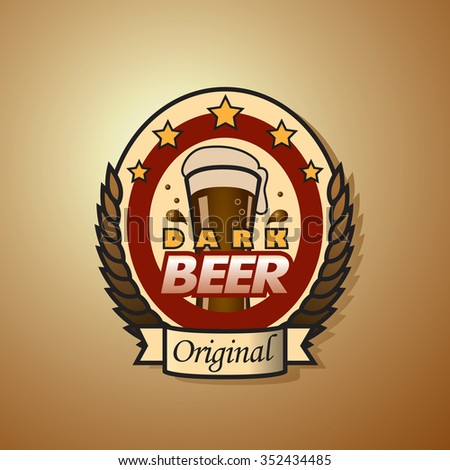 original dark beer bottle label template stock vector royalty free