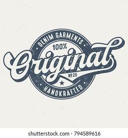 Original Denim Garments - Tee Design For Print
